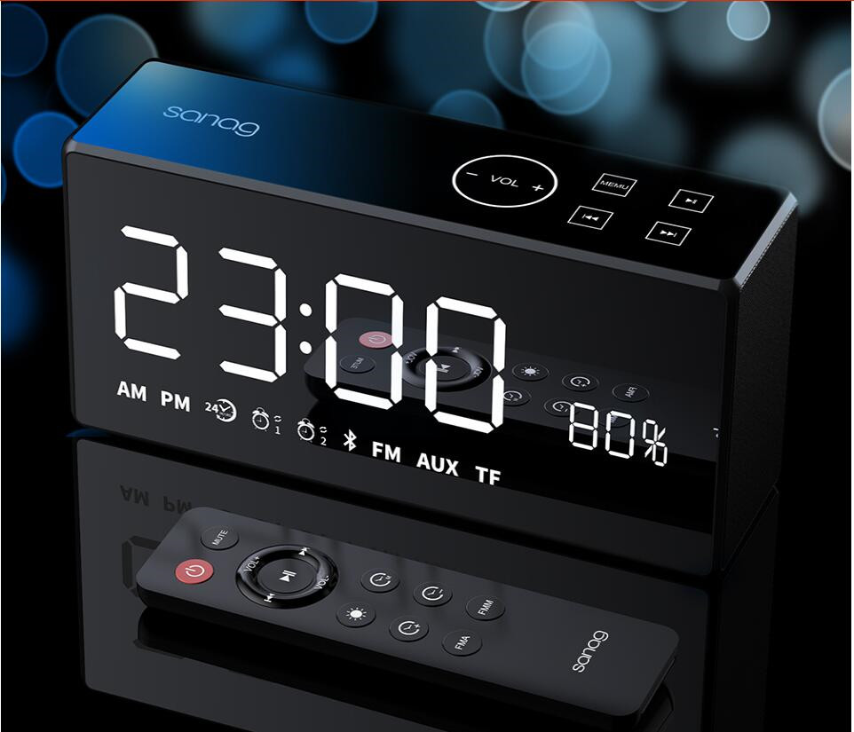 DiDo X9 Mini Card Mirror FM Audio Charging Radio Call Alarm Set Remote Control Smart Speaker Portable Audio And Video Equipment