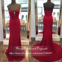 Real Pictures Burgundy Long Elegant Prom Dress Sweetheart Neck Off The Shoulder Neck Stretch Satin Mermaid Prom Dresses 2017