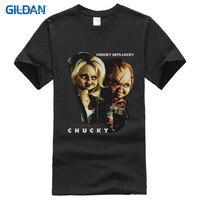 Thông minh T Shirts Short Đồ Họa Bride Of Chucky Movie Chucky Được May Mắn Được Cấp Phép O-Cổ Tees For Men