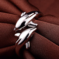 LIAMTING 2016 New Fashion Charms Double Dolphins 925 Sterling Silver Rings For Women Opening Adjustable Engagement Rings VB061