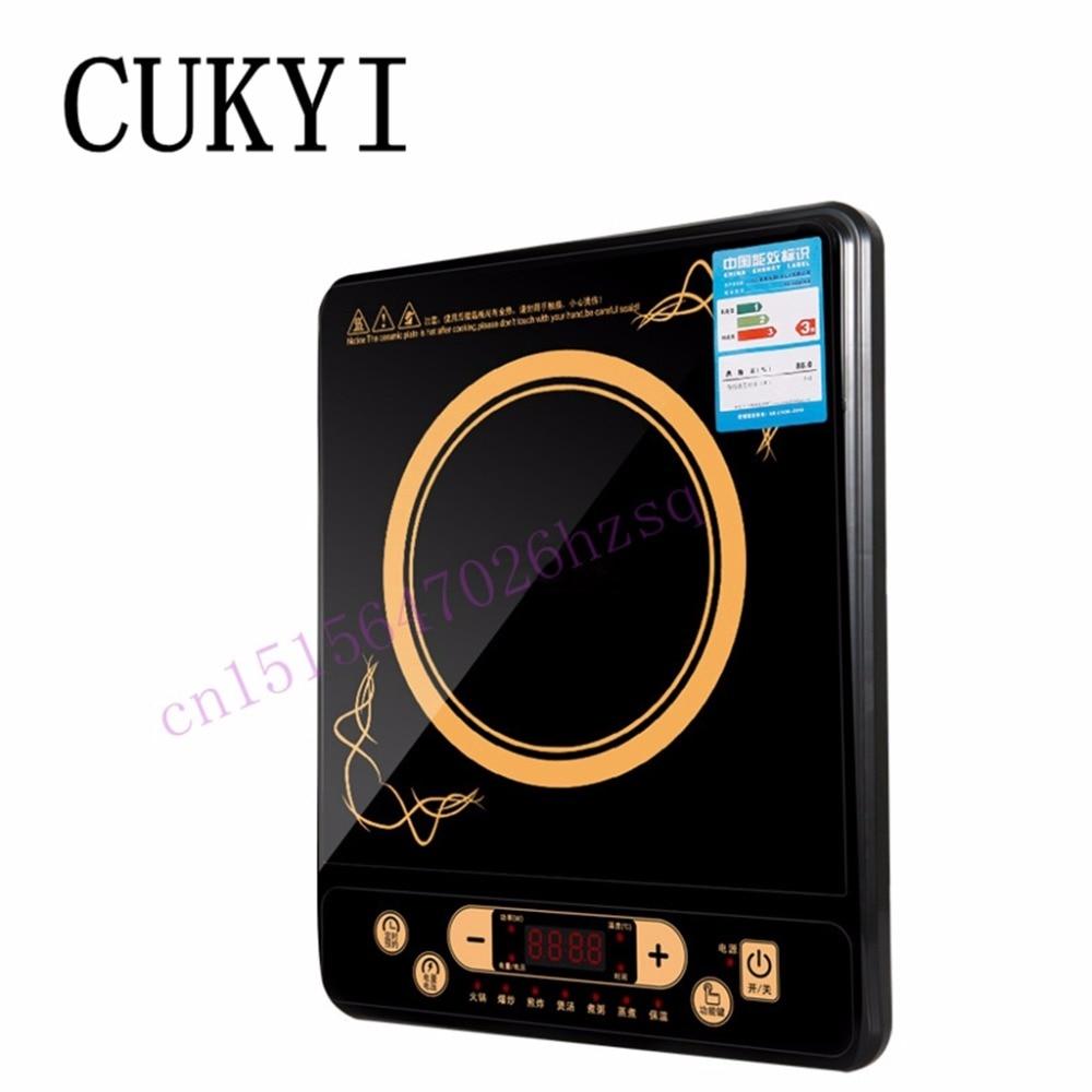 Cukyi индукции Плита электромагнитное печь все огонь супер тонкий бытовой высокой мощности Hot Pot Многофункциональный электромагнитный
