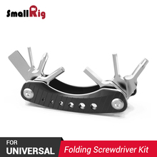 SmallRig Folding Screwdriver Kit Blade DSLR Camera Rig Pocket-Sized Multitool AAK2363 цена и фото