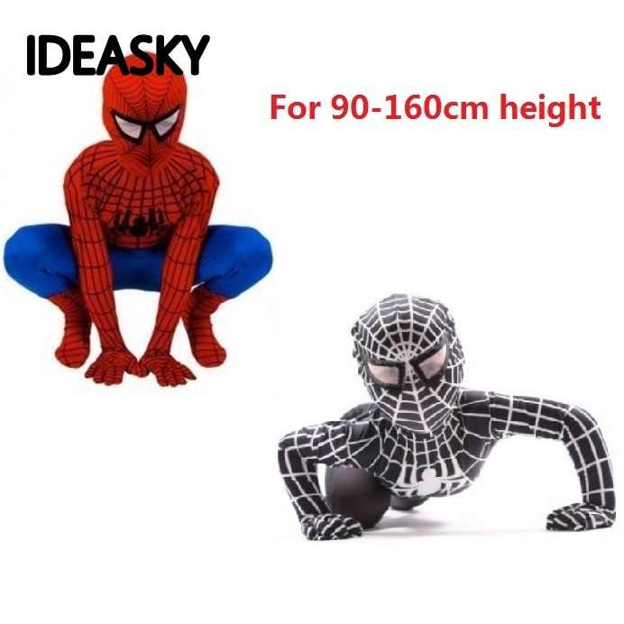 children black spiderman the amazing costume Spider-Man Kids Superhero Spider man Zentai Halloween Costume Christmas boys suit