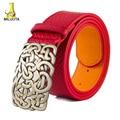 [MILUOTA] 2015 Nueva llegada de calidad Superior de cuero de LA PU de las mujeres cinturones de diseño de marca de moda de metal hebilla de cinturón para las mujeres X59