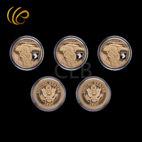 Wholesale Gold Coin Department of The Navy U.S Military Coins with Plastic Case for Home Decor and Gifts