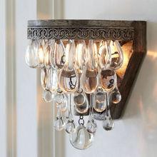 110 v 220 v Moderne Art décoration en cristal lampe de mur de Fer lumière éclairage intérieur appliques murales pour chambre