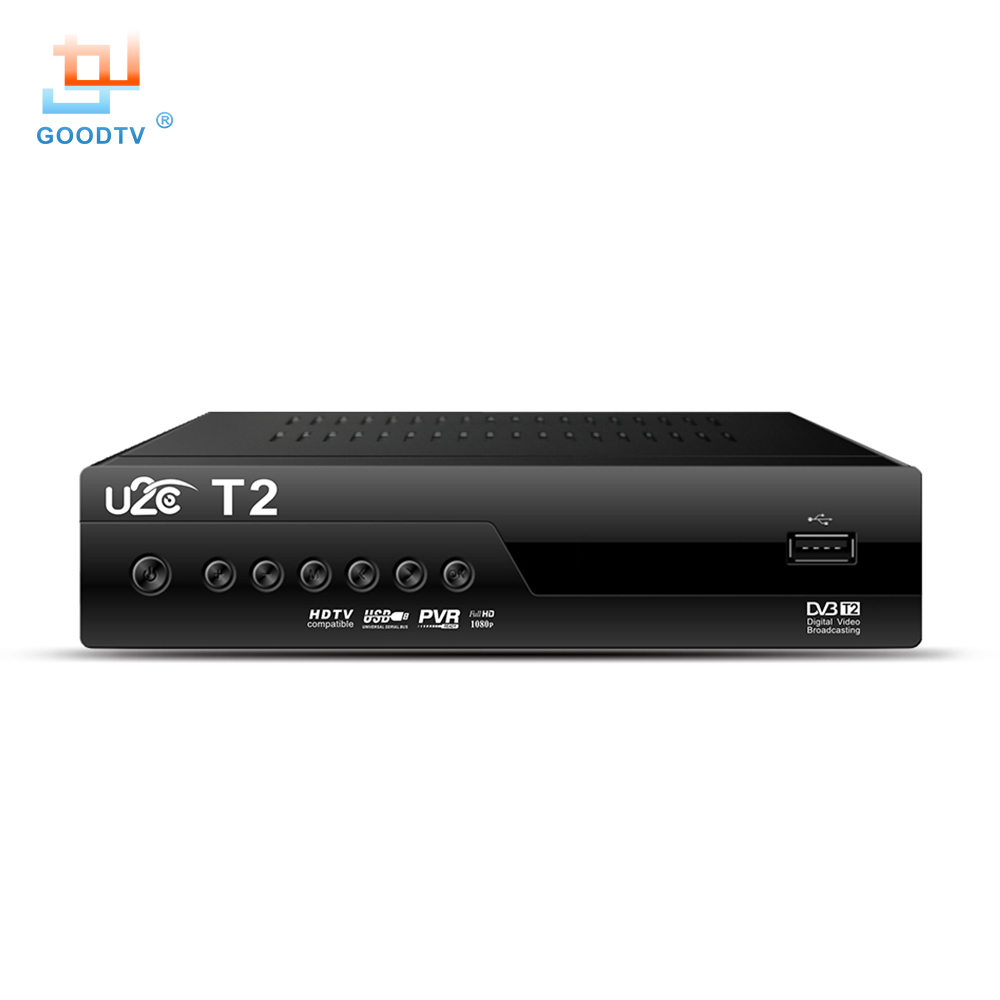 Qualität U2C DVB-T Smart TV Box DVB-T2 T2 STB H.264 MPEG-4 HD 1080 P TV Digitalen Terrestrischen Receiver DVB T/T2 Set Top Box TV Set