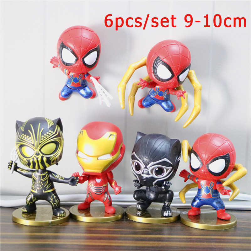 Kid PVC Action Figure Marvel Avenger Figura Set Amazing Spiderman Superhero Spider-man do Regresso A Casa Modelo Casa de Boneca Brinquedo Coleção