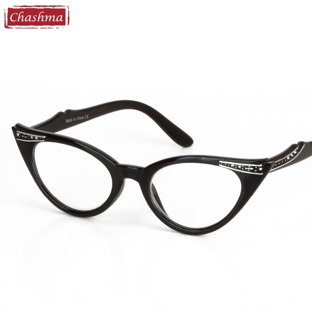chashma brand women cat eye glasses frames cat eyes reading glass black frame clear lenses reading