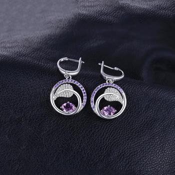 Created Alexandrite Sapphire Drop Earrings 925 Sterling Silver Earrings For Women Gemstone Korean Earrings Fashion Jewelry 2019 1