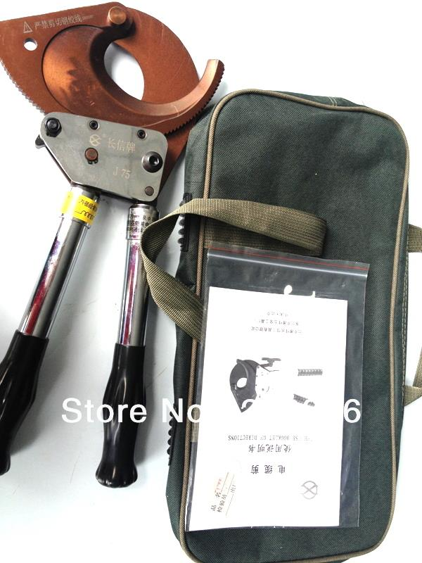 Ratchet wire cutter J75 for cutting Copper& aluminum in Armounred cable smaller than 3X 120mm2 new arrival ratchet cable cutter cutting 500mm2 al conductor 400mm2 cu cable tcr 500s manual ratchet scissors handle retractable