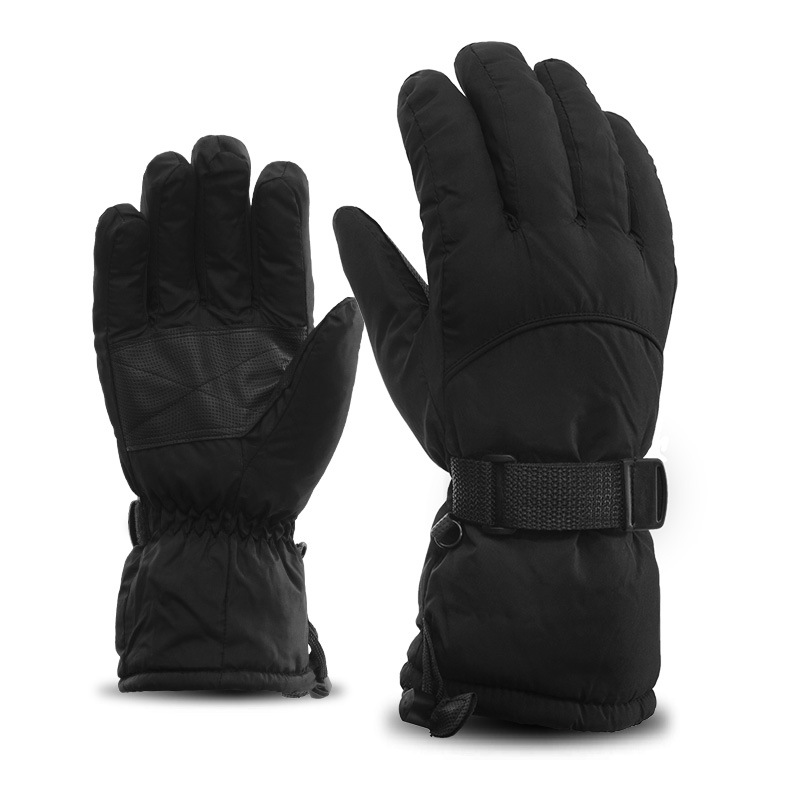 Vinterberg Svart Vattentäta handskar med tjock varm för män och kvinnor Vattentät vind och sammet tjockt kallt varmt Utomhus