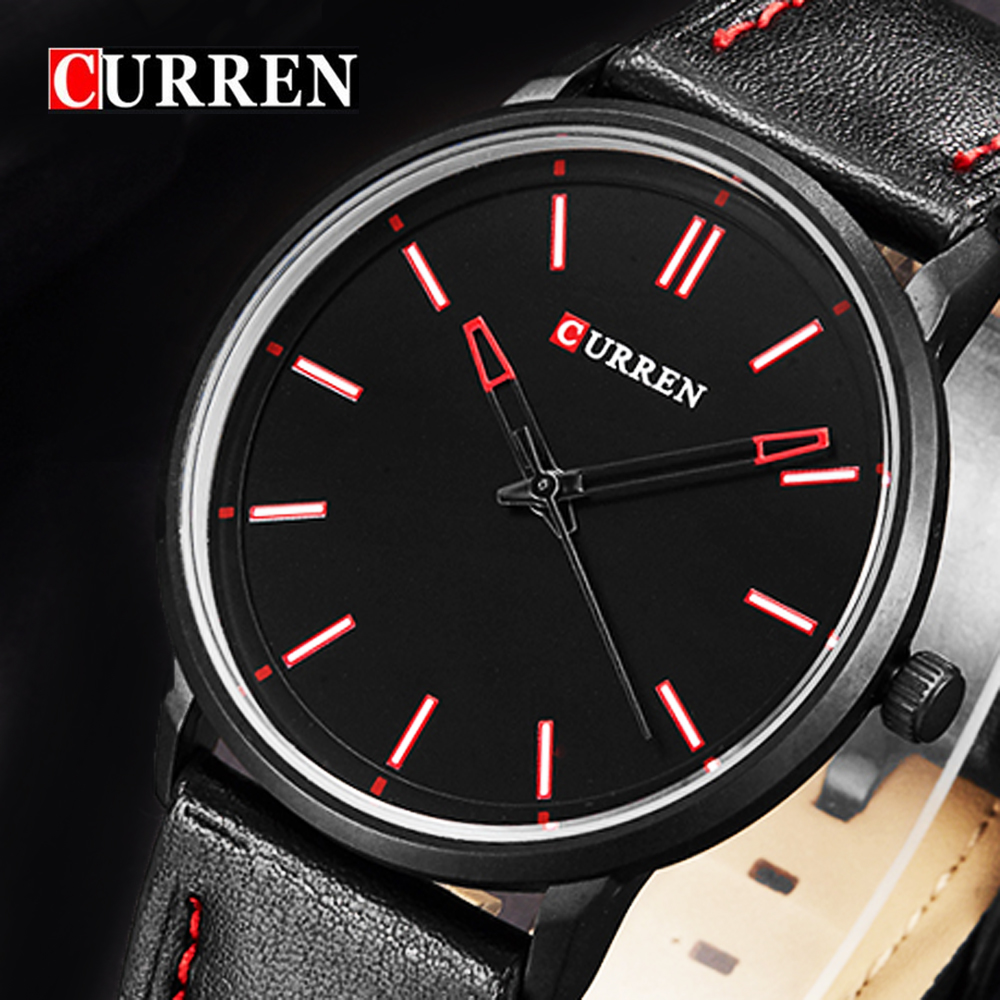 CURREN Brand Luxury Casual Sport Watch Men Genuine leather Urltra Thin Case Fashion Male Watches Quartz-Watch Relogio Masculino curren golden quartz watches men luxury top brand fashion men s watch genuine leather sport casual wristwatch relogio masculino