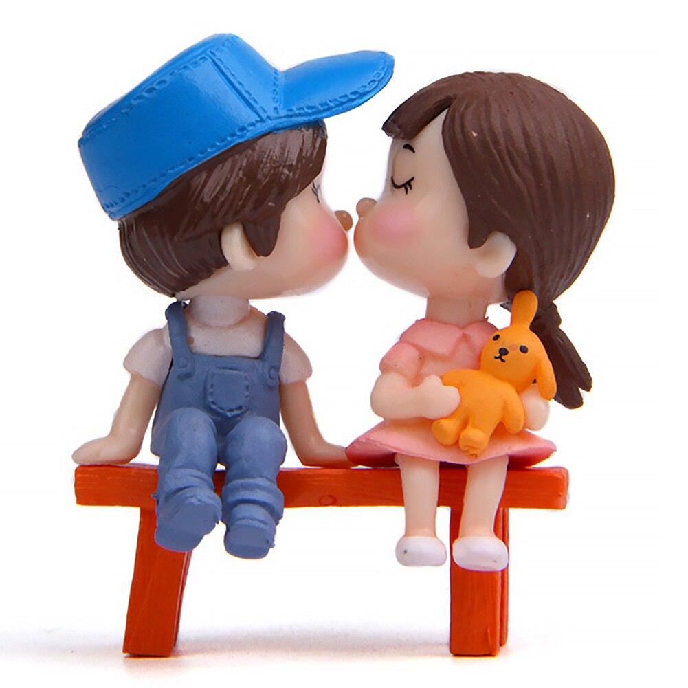 Mini Stool Dolls Figurine Terrarium-Figures Garden-Miniatures-Decor Couples Fairy Micro Landscape