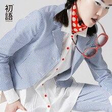 Toyouth 2017 New Arrival Cotton Casual Women Blazers Autumn Fashion Striped Button Pockets Blazers