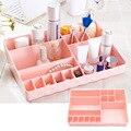 15-Slot caja de Plástico De múltiples funciones de Oficina En Casa Escritorio Tocador Maquillaje Cosmético Del Almacenaje Del Organizador Del Sostenedor Rosa