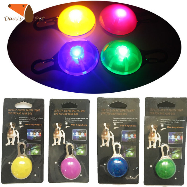 Night led safety light spotlit dog collar led tagsclip on glow in night led safety light spotlit dog collar led tagsclip on glow in the dark aloadofball Image collections