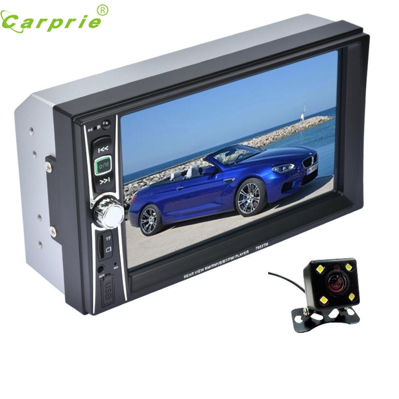 New Arrival 7 Double 2 Din Touchscreen In dash Car Stereo Radio Mp3 Player FM Aux + Camera fe20 niorfnio portable 0 6w fm transmitter mp3 broadcast radio transmitter for car meeting tour guide y4409b