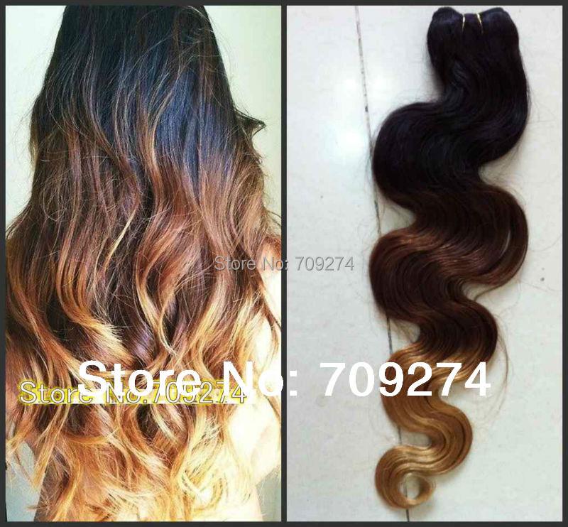 Brazilian Ombre Hair Bundles 10a Three Tone Color Extensions 1 2 3 Pcs Human