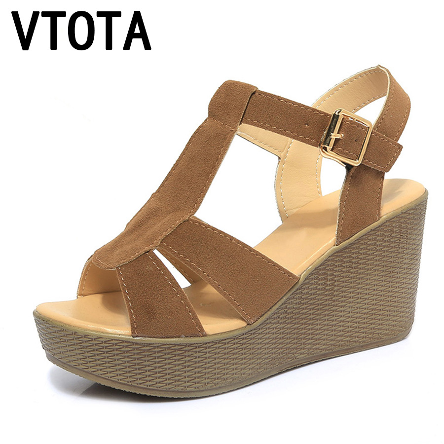 VTOTA Fashion High Heels Sandals Woman Gladiator Sandals Platform Wedges Open Toe Women Sandals zapatos mujer Summer Shoes B4 2017 summer new rivet wedges sandals creepers women high heel platform casual shoes silver women gladiator sandals zapatos mujer