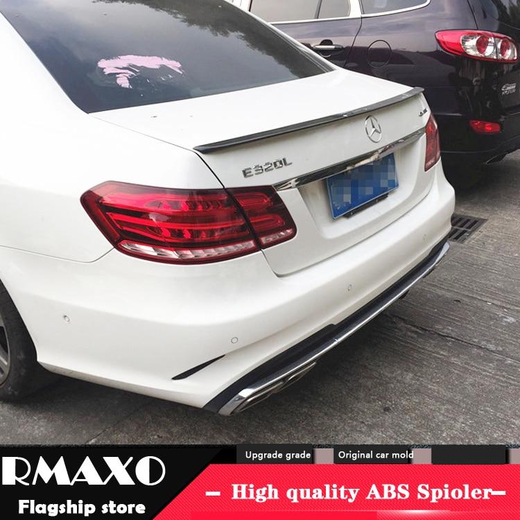 Para benz w212 spoiler 2015 e320l e260l e300l e63 alta qualidade material abs asa traseira do carro primer cor spoiler traseiro