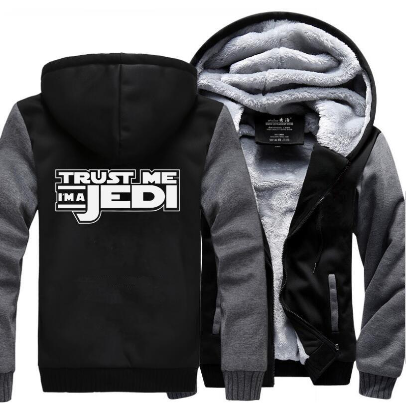 Star Wars I 39 m A Jedi Movie Jacket For Men 2019 Winter Warm Fleece High Quality Sweatshirts Casual Men Thicken Hoodies Men 39 s Coat in Hoodies amp Sweatshirts from Men 39 s Clothing