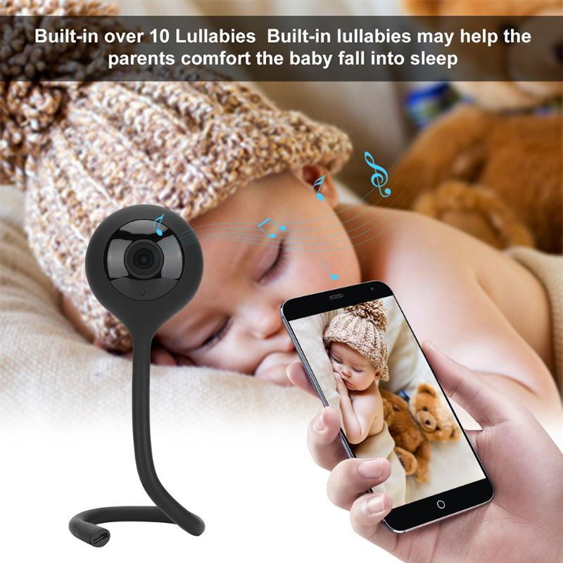 Baby Video Monitor Camera Two way Intercom Surveillance Music Player Night Vision WiFi Phone High Tech Toys