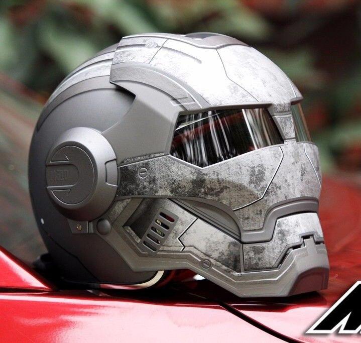 Masei 610 Star Machine DOT casque Ironman Iron Man atomique homme moto casques visage ouvert Ironman Star Wars gris guerrier mat L