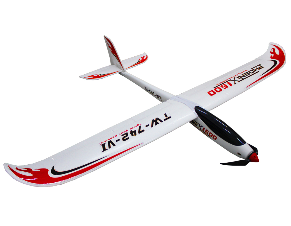 все цены на Volantex Phoenix 1600 RC KIT Glider Plane Model W/O Motor Servo 30A ESC Battery онлайн