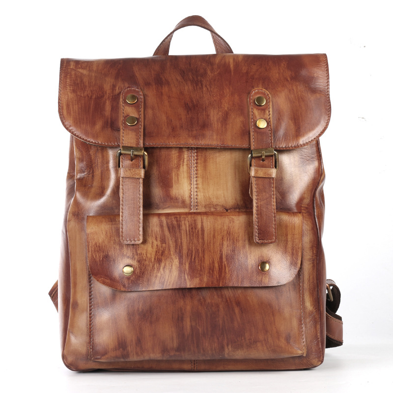 New Original First Layer Cowhide Leather Backpack Fashion Vintage Cow Leather Backpack Casual Male Genuine Leather Travel BagNew Original First Layer Cowhide Leather Backpack Fashion Vintage Cow Leather Backpack Casual Male Genuine Leather Travel Bag
