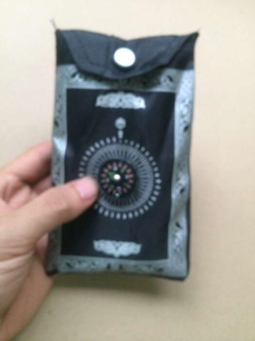 Islamic travel pocket prayer mat with compass muslim prayer rug mix colors foldable #RXN-601