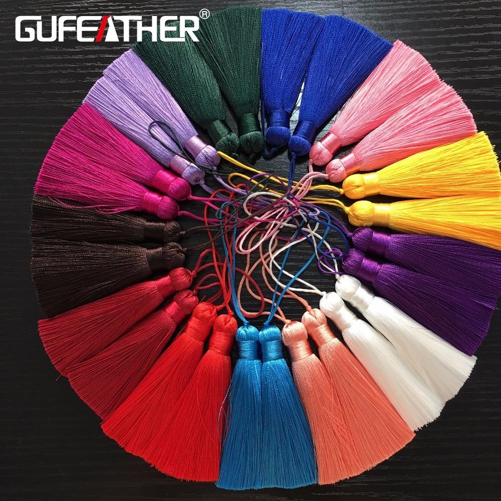 GUFEATHER L76/8CM/Tassel/jewelry Accessories/jewelry Findings/Silk Tassel/diy Accessories/jewelry Making/DIY/2pcs/bag