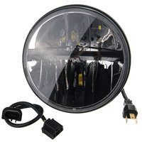 7 Inch Motorcycle Chrome Projector Hi Lo LED Headlight Light Lamp Bulb For Harley For Jeep