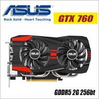 ASUS Video Graphics Card Original Used GTX 760 2GB 256Bit GDDR5 Video Cards For NVIDIA VGA