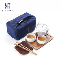 Travelling Tea Set Tea Cup Tea Gaiwan Handmade Ceramic Porcelain Teapot Handmade Kung Fu Tea Supply Portable Package