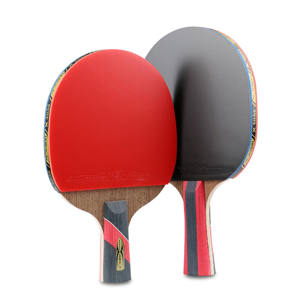 6 Star Table Tennis Racket Pingpong Paddle 5-layer Door Frame With 2-layer Carbon + Cloth Bag