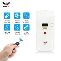 WAFU Smart Lock HF 011A Bluetooth Enabled Fingerprint and Touchscreen Keyless Smart Lock Deadbolt with Built In Alarm New hot