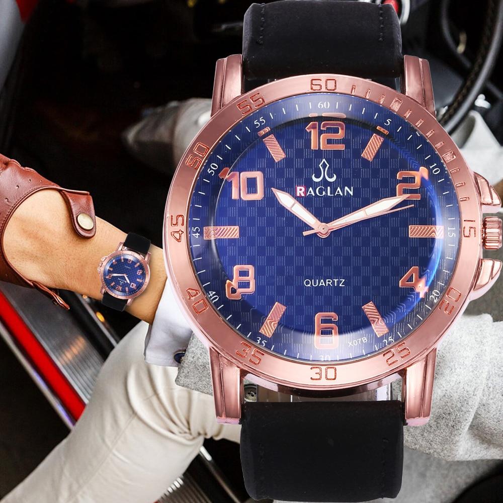 2018 Männer Einfache Skala Analog Zifferblatt Quarzuhr Lederband Herren Uhren Mode Sport Armbanduhr Männlichen Uhr Relogio Masculino