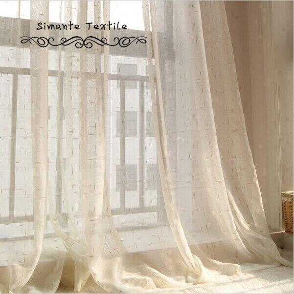 Linen Sheer Curtain Sheer Panel