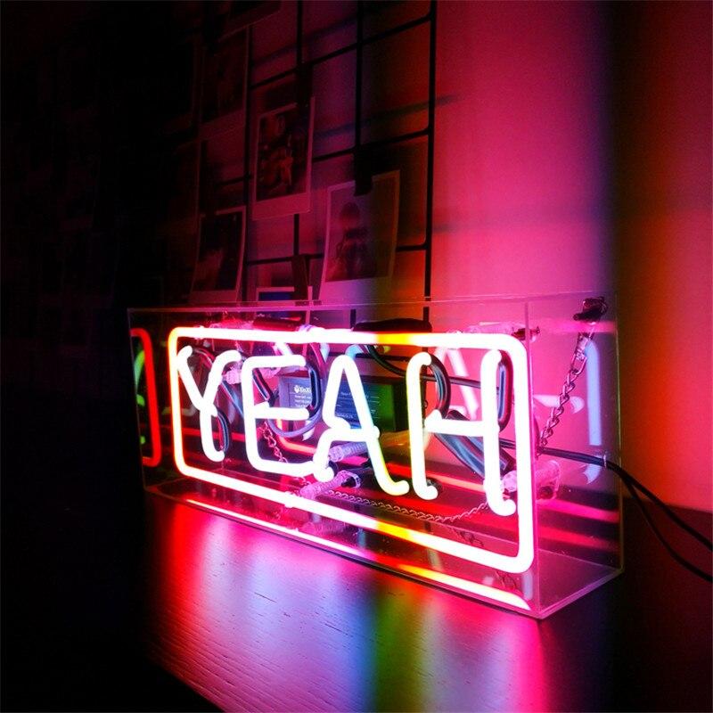 INS Calda SÌ Sogno Tubo Reale Vetro Luce del Tubo Al Neon Segno Tavern Beer Bar Pub Decorazione Lampadina Al Neon Bordo Lampada illuminazione commerciale - 4