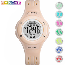 PANARS Sports Children Digital Watches 5Bar Waterproof Led Luminous Multifunctional Kid Boy Girl Shock Resistant Clock