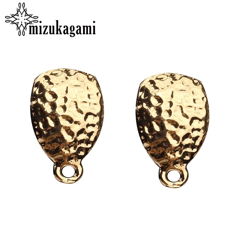 10pcs/lot 17*10mm Zinc Alloy Retro Gold Tear Water Drop Earrings Base Connectors For DIY Earrings Jewelry Accessories