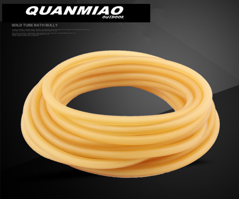 3mm x 5mm Natural Latex Slingshots Rubber Tube 2M Tubing Band For Slingshot Hunting Catapult Elastic Part Bungee Equipment  2M3mm x 5mm Natural Latex Slingshots Rubber Tube 2M Tubing Band For Slingshot Hunting Catapult Elastic Part Bungee Equipment  2M
