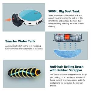 Image 5 - Vancostar 로봇 진공 청소기 1400PA 2in1 가정용 중앙 브러시 건식 습식 탱크 PRO4S 지능형 청소 로봇 ASPIRADOR