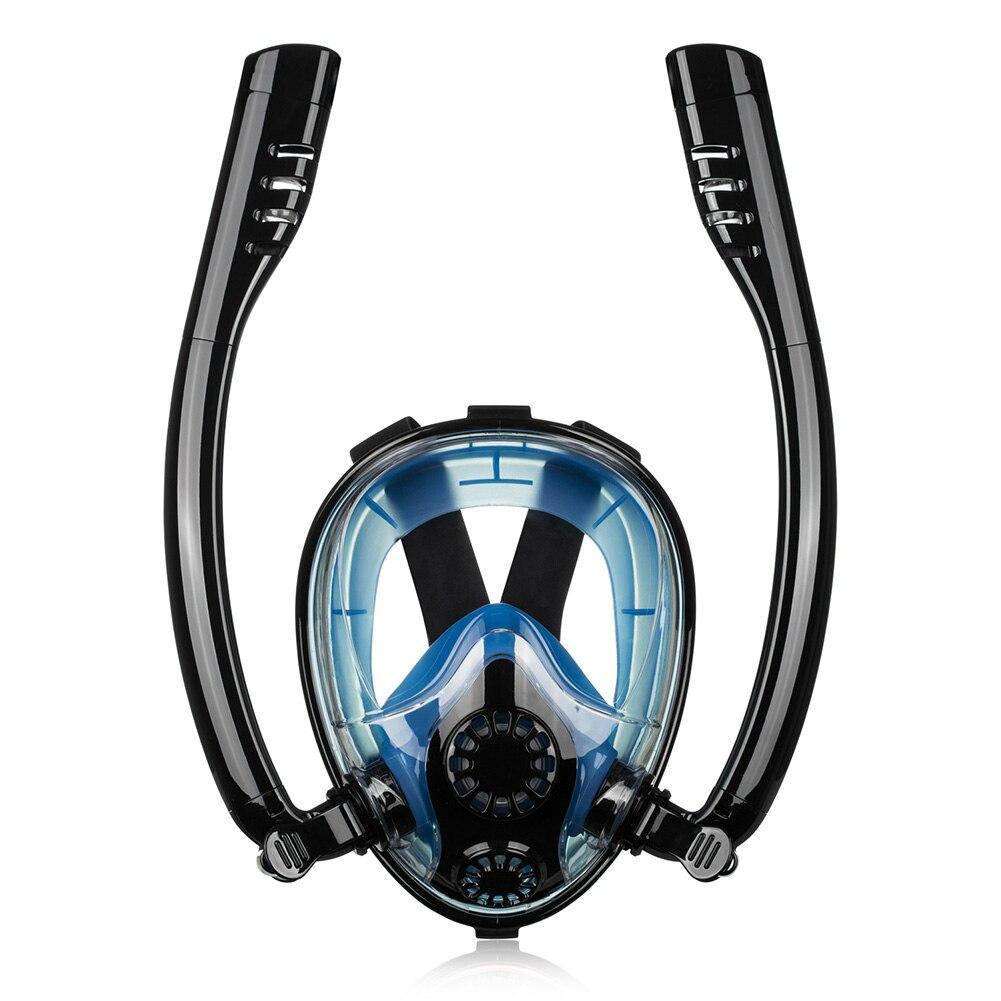 Underwater Silicone Full Face Swimming Waterproof Snorkeling Tool Sports Summer Anti Fog Dry Snokel Training Diving