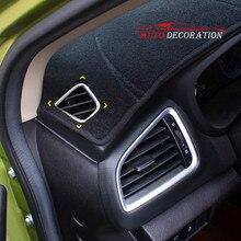 Для Suzuki SX4 S-Крест 2rd Gen 2014-2018 ABS Матовый автомобиль-Стайлинг интерьер автомобиля стиль верхней вентиляционное отверстие крышки 2 шт.