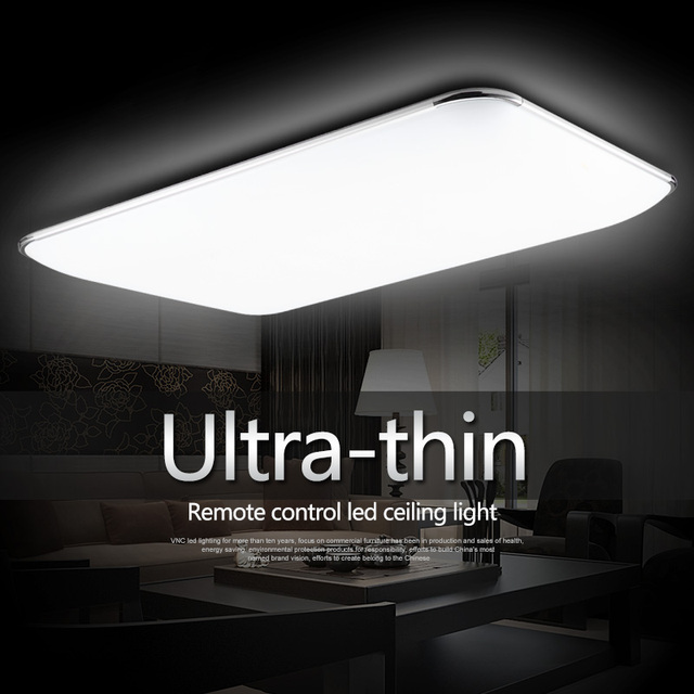 Remote Control Ultra Thin Surface Mounted Led Light Fixture For Living Room And Kids Ceiling
