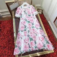 Летнее платье 2019 женское длинное платье с цветочным принтом Boho платья женские вечерние элегантные платья с короткими рукавами и оборками