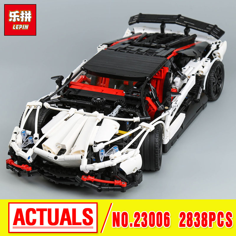 Lepin 23006 Genuine MOC Technic Series The Super Racing Car Set MOC-3918 Building Blocks Bricks Educational Toys Boy Gifts Mode lepin 21010 914pcs technic super racing car series the red truck car styling set educational building blocks bricks toys 75913