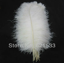 EMS freeshipping!100PCS/lot High quality white Natural OSTRICH FEATHERS 20-22inch 50-55CM